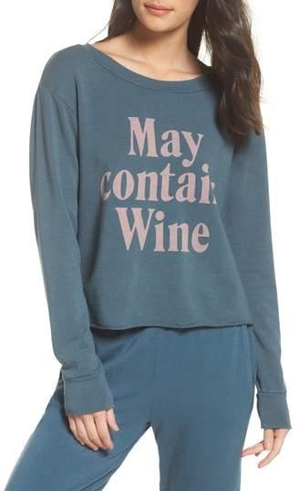 May Contain Wine Sweatshirt