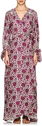 Natalie Martin Women's Nico Floral Silk Cover-Up Maxi Dress