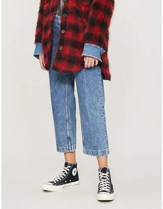 The Kooples Cropped slim-fit jeans
