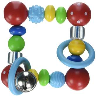 Heimess Elastic Touch Ring (Red Square/Polka Dot Bead)
