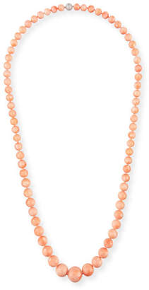 Assael Angel Skin Coral Bead Necklace, 42""