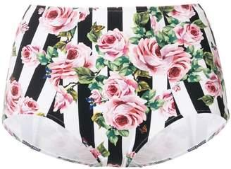 Dolce & Gabbana printed high waist bikini bottoms
