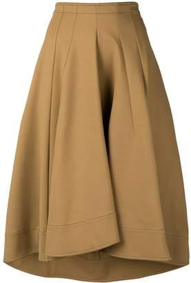 Jil Sander flared midi skirt