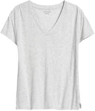 Banana Republic Slub Cotton-Modal Ruched T-Shirt
