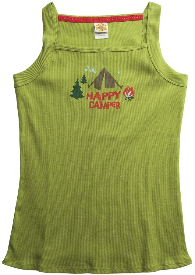 Toast and Jammies Rib-Knit Cotton Tank Top - Screen Print (For Women)