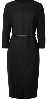 Max Mara Karub Belted Wool-blend Dress - Black