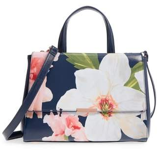 Ted Baker Peobe Chatsworth Bloom Faux Leather Satchel