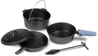 Stansport Preseasoned Cast Iron Cookware Set (5-Piece)