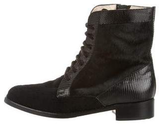 Manolo Blahnik Pony Hair Ankle Boots