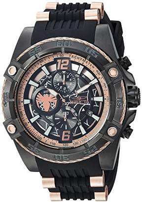 Invicta Men's 'Marvel' Quartz Stainless Steel and Silicone Watch