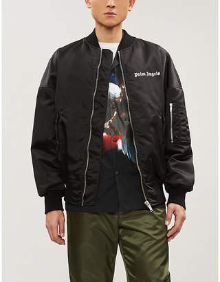 Palm Angels Padded satin bomber jacket