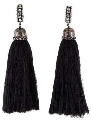 Lanvin Crystal Tassel Earrings