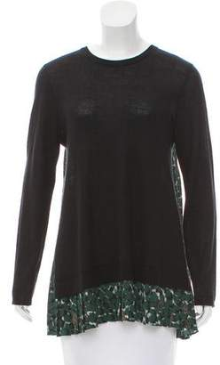 Yigal Azrouel Pleated Long Sleeve Top w/ Tags