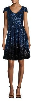 Badgley Mischka Ombre Sequin Cocktail Dress $465 thestylecure.com