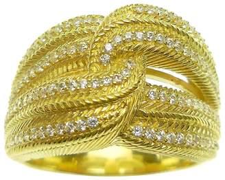 Judith Ripka 14K Clad Diamonique Interlocking Ring