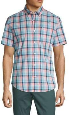 Original Penguin Stretch Plaid Short Sleeve Shirt