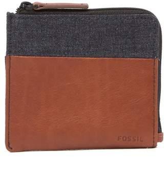 Fossil Grady Contrast Zip Around Wallet