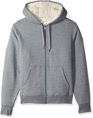 Amazon Essentials Men's Sherpa Lined Full-Zip Hooded Fleece Sweatshirt