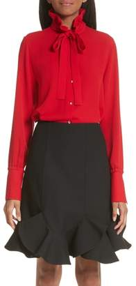 Valentino Tie Neck Silk Georgette Blouse