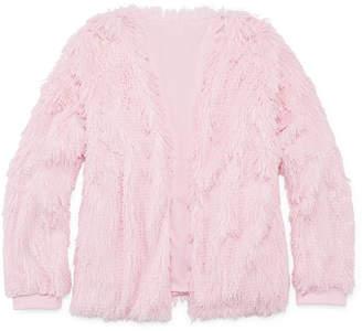 Arizona Long Sleeve Fuzzy Cardigan - Girls' 4-16