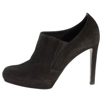 Jil Sander Black Suede Ankle boots
