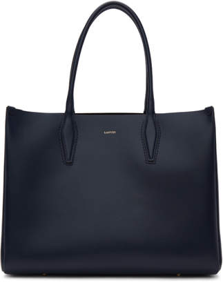 Lanvin Navy Medium Shopper Tote