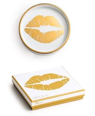 Lulu & Georgia Golden Kiss Coaster