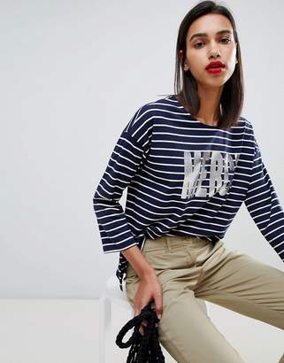 French Connection Merci Stripe Long Sleeved T-Shirt