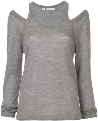 Alexander Wang cut out detail knitted top