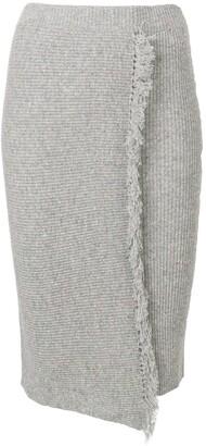 Cashmere In Love envelope fringed skirt