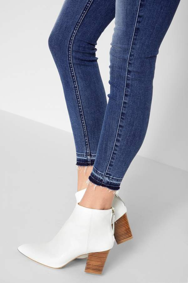 7 For All Mankind B(Air) Denim High Waist Ankle Skynny With Released Hem In Sunset