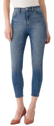 DL1961 x Marianna Hewitt Instasculpt Chrissy Ultra High Waist Crop Skinny Jeans