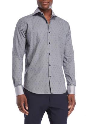 Bogosse Grey Dot Jacquard Sport Shirt