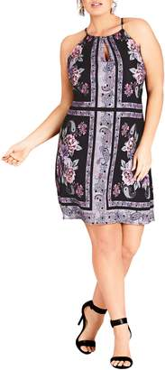 City Chic Paisley Patch Sheath Dress