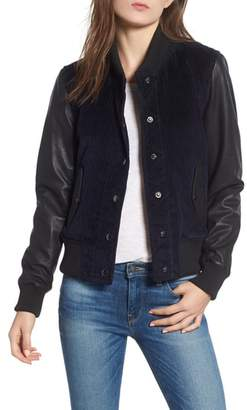 Hudson Leather & Corduroy Varsity Jacket