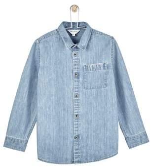 Mens **Boys Light Wash Denim Shirt (5 - 12 years)