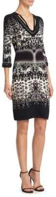 Roberto Cavalli Burnout Sheath Dress