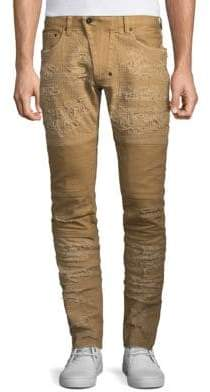 Windsor Distressed Moto Skinny Fit Jeans