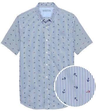 Banana Republic Grant Slim-Fit Luxe Poplin Anchor Stripe Shirt