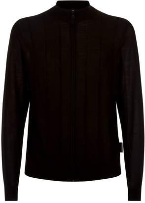 Giorgio Armani Virgin Wool Zip-Up Cardigan