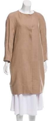 Pauw Collarless Knee-Length Coat