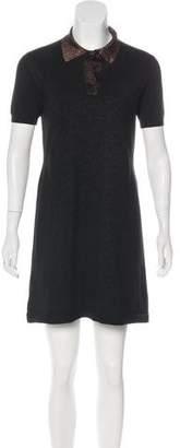 Prada Metallic Shift Dress