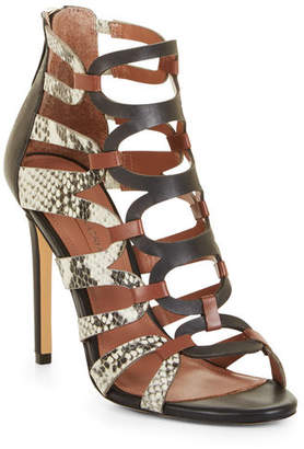 BCBGMAXAZRIA Valentia Python Leather Sandals