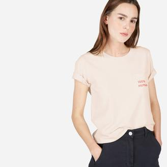 The 100% Human Cotton Box-Cut Tee in Small Print $22 thestylecure.com