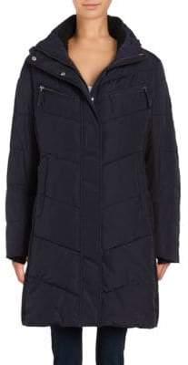Calvin Klein Colorblocked Puffer Coat