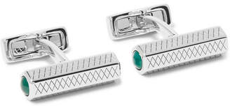 Mulberry Silver-Plated Agate Cufflinks