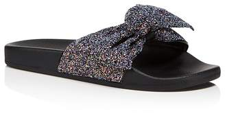 Kate Spade Women's Shellie Glitter Pool Slide Sandals