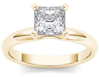 Imperial Diamond Imperial 1 Carat T.W. Diamond Princess-Cut Solitaire 14kt Yellow Gold Engagement Ring