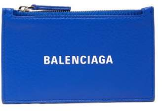 Balenciaga Everyday Leather Card Holder - Womens - Blue