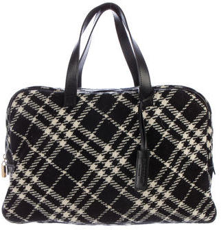 Burberry  Burberry Wool Check Briefcase